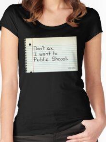 Public Schools Women's Fitted Scoop T-Shirt