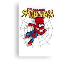 Spiderbart: Bart Simpson as Spider-man Canvas Print