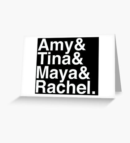 SNL Girl Gang in White Helvetica: Early 00's Greeting Card