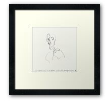 (Night) Nap Drawings 11 - Bust of Diego (after Giacometti) from memory - 24th July 2013 Framed Print
