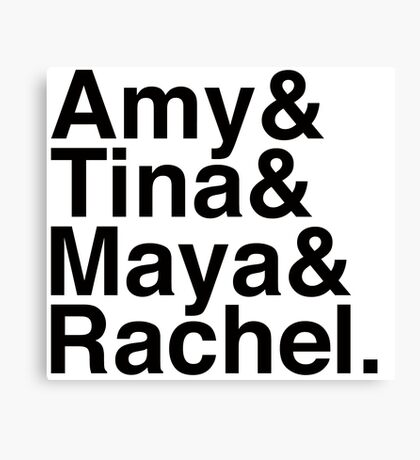 SNL Girl Gang in Black Helvetica: Early 00's Canvas Print
