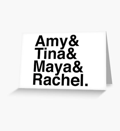 SNL Girl Gang in Black Helvetica: Early 00's Greeting Card