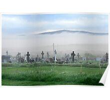Fog rolling towards the graveyard Poster