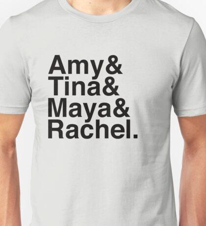 SNL Girl Gang in Black Helvetica: Early 00's Unisex T-Shirt