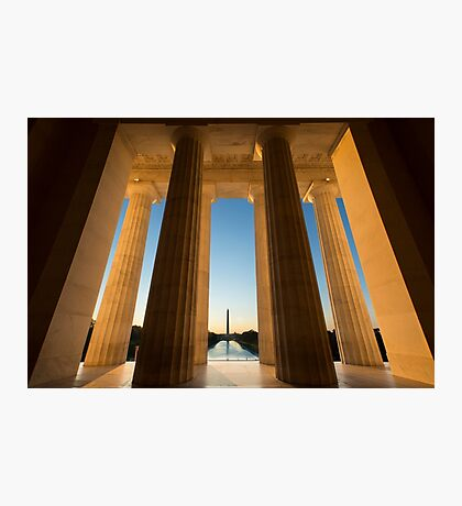 Looking at the Washington Mounument From Lincoln Memorial Photographic Print