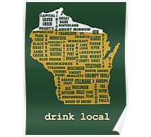Drink Local (WI) Poster