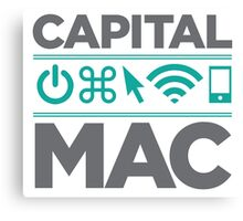 Official Capital Mac Service of the Capital District T-Shirt Canvas Print