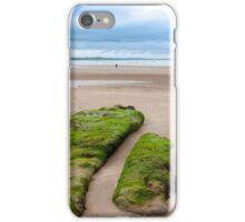 girl walking near unusual mud banks iPhone Case/Skin