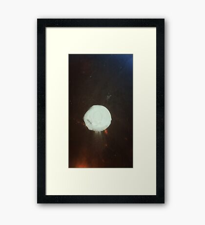 Moon Between Two Forces Framed Print