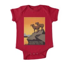 Vintage poster - National Parks One Piece - Short Sleeve