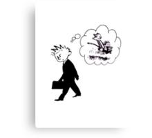 Old Calvin, Good Memories - Calvin & Hobbes Canvas Print