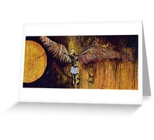 Icarus and Demon Greeting Card