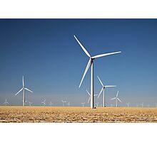 Winter Wind Turbines #7 Photographic Print