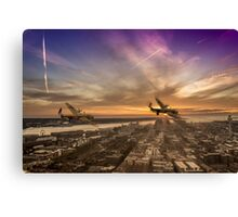 Lancasters leaving Liverpool Canvas Print