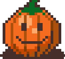 Pumphrey the pixel pumpkin by BluescreenQueen