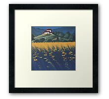 Tuscany In Blue Framed Print
