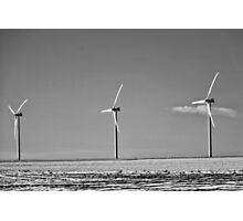 Winter Wind Turbines #10 Photographic Print
