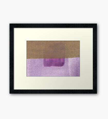 Purple blue to Purple Framed Print