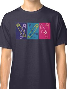 Multiple Safety Pins - Teal, Purple, and Pink Classic T-Shirt