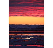 Sunset at Churchill, Canada Photographic Print