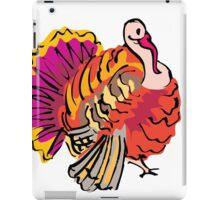 Multi colored graphic turkey iPad Case/Skin