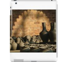 Clay Pots Drying In The Afternoon Sun iPad Case/Skin