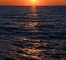 Sunset on Lake Michigan by Kenneth Keifer
