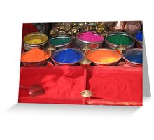 Coloured Dyes Greeting Card
