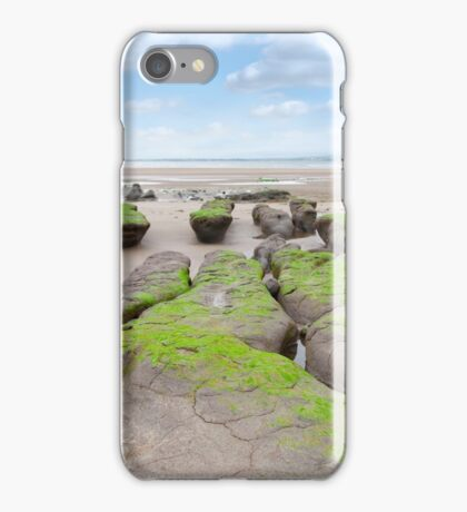 green mud banks at Beal beach iPhone Case/Skin
