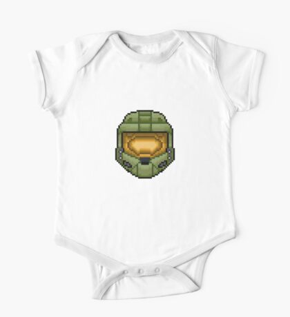 Master Chief Pixel One Piece - Short Sleeve