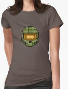 Master Chief Pixel Womens Fitted T-Shirt