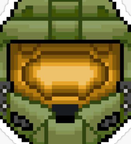 Master Chief Pixel Sticker