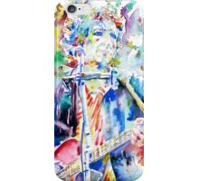 BOB DYLAN playing the GUITAR - watercolor portrait.2 iPhone Case/Skin