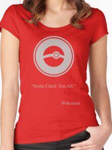 Gray Pokemon Symbol Women's Fitted Scoop T-Shirt