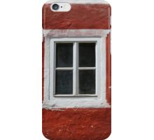 Red and White Window iPhone Case/Skin