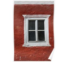 Red and White Window Poster