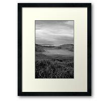 grey Ballybunion links golf course Framed Print