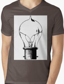 Light Bulb Antique Sticker Mens V-Neck T-Shirt