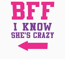BFF I Know She's Crazy 2/2, Purple and Pink Ink | Bff Matching T Shirts for Women Tank Top
