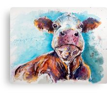 Optimistic Cow Canvas Print