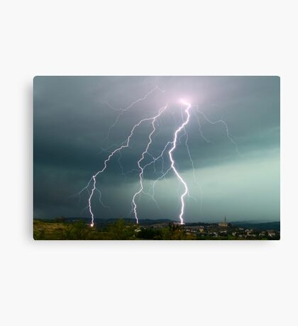Tripple fork lightening Canvas Print