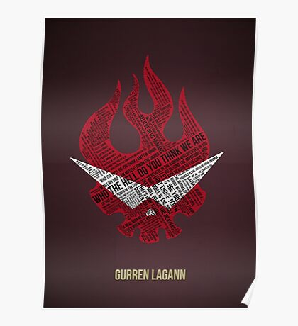 Gurren Lagann typography Poster
