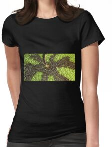 Begonia Rex Leaf Detail  Womens Fitted T-Shirt