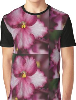 Dark Pinky-red African Violets  Graphic T-Shirt