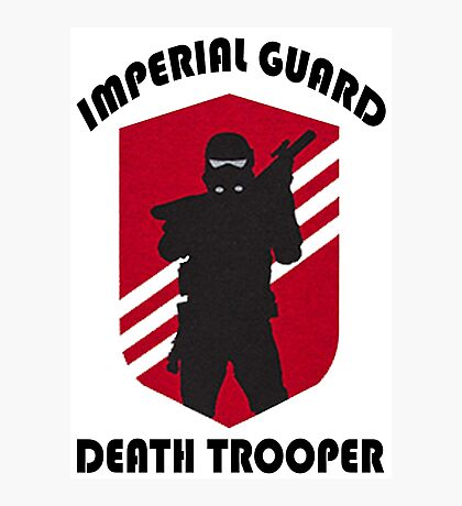 Imperial Guard Death Trooper Photographic Print