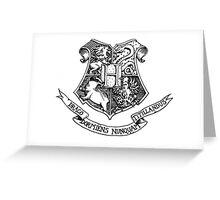 Hogwarts Crest Greeting Card