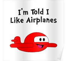 Baby Likes Airplanes Poster