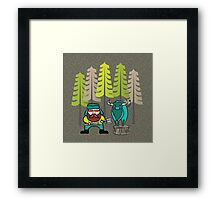 Lumberjack Attack: Paul and Babe Framed Print