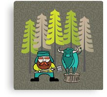 Lumberjack Attack: Paul and Babe Canvas Print