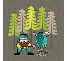 Lumberjack Attack: Paul and Babe Photographic Print